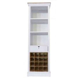 Biblioteczka z półkami na wino - Epos
