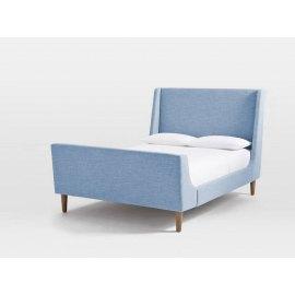 Nieibeskie łóżko do sypialni stylowe Seul