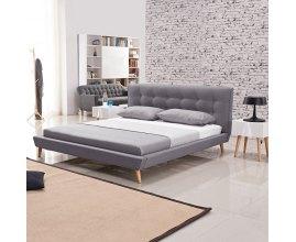 Łóżko tapicerowane w stylu skandynawskim - Borys