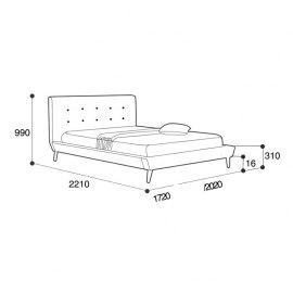 Łóżko Borys wymiary