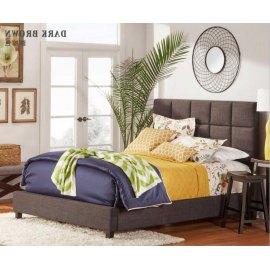 Brązowe łóżko tapicerowane Optima