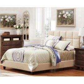 Łóżko z tapicerowanym wezgłowiem - Optima