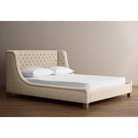 łóżko tapicerowane w stylu hampton Maja