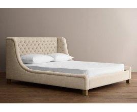 Maja - łóżko tapicerowane w stylu hampton