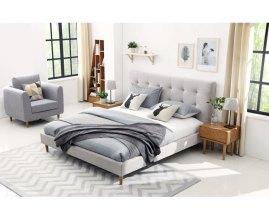 Malibu - łóżko tapicerowane w stylu skandynawskim