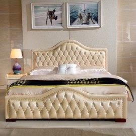 Łóżko tapicerowane do sypialni w stylu angielskim Elba