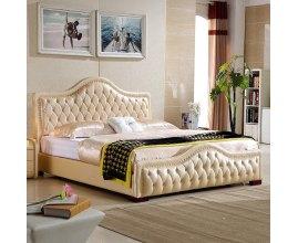 Łóżko tapicerowane w stylu angielskim Elba