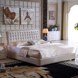 Pikowane łóżko do sypialni - Verona