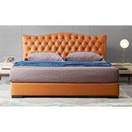 Pikowane łoże do klasycznej sypialni