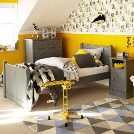 Fan - szare łóżko młodzieżowe