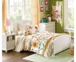 Białe łóżko Kimi