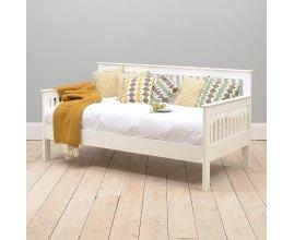 Łóżko z oparciem bocznym Salma