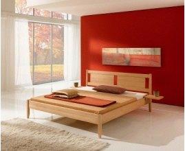 Poter - Łóżko z drewna do sypialni