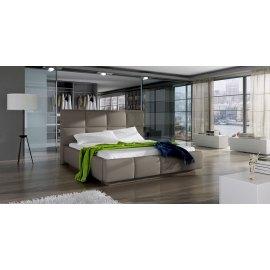 Łóżko tapicerowane z oświetleniem ledami Armado