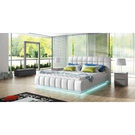 Łóżko tapicerowane z oświetleniem Led Nagano