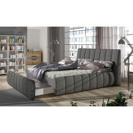 Szare łóżko z szufladą Seweryn