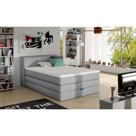 Łóżko kontynentalne Horacy z 2 pojemnikami