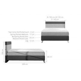 Łóżko kontynentalne Galant