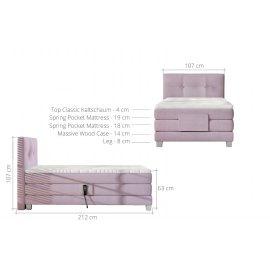 Łóżko Puro 100x200 wymiary