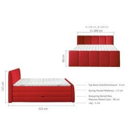 Wymiary łóżka Loras 140x200 cm