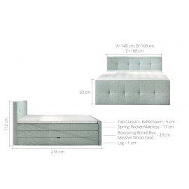Łóżko kontynentalne Domus z pojemnikiem