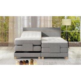Łóżko z regulowaną pozycją materaca Armani