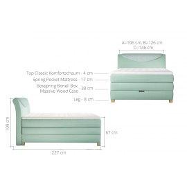 Wymiary łóżka weber