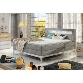 Łóżko kontynentalne z oświetleniem Led Turin
