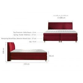 wymiary łóżka 140x200 cm Domino