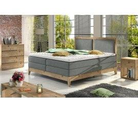Drewniane łóżko kontynentalne Madrid