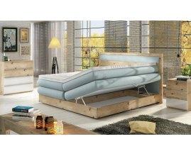 Dębowe łóżko kontynentalne Medino