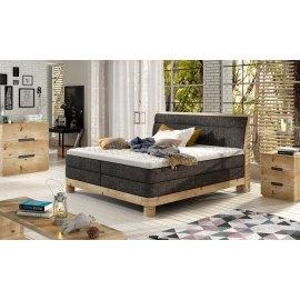 Łóżko z dębową podstawą Malta