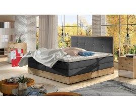 Dębowe łóżko kontynentalne Lorento