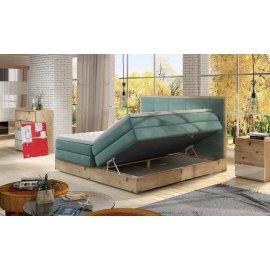 Dębowe łóżko z pojemnikiem Lorento