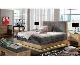 Łóżko z pojemnikiem i ledami Madison