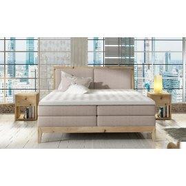 łóżko z drewnianą podstawą Robin
