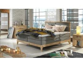 Kontynentalne łóżko drewniane Robin