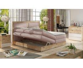 Łóżko kontynentalne z pojemnikiem Ines