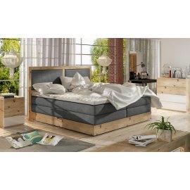 Dębowe łóżko z pojemnikiem Ines