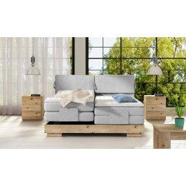 Dębowe regulowane łóżko Italia