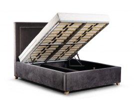 stylizowane łóżko z pojemnkiem Como