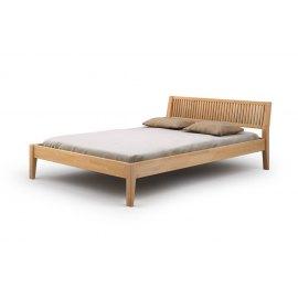 Łóżko do sypialni z litego drewna Grafit