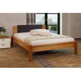 Harry - Łóżko drewniane z tapicerowanym zagłówkiem