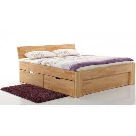 Drewniane łóżko z szufladami - Pallad