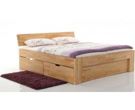 Pallad - Drewniane łóżko z szufladami
