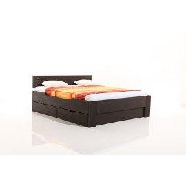 Łóżko drewniane z szufladami Perła