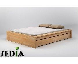 Topaz - Bukowe łóżko z szufladami