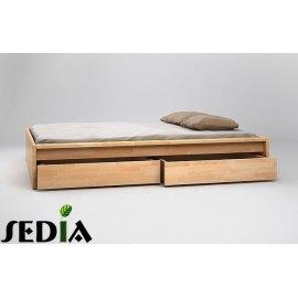 Łóżko do sypialni z szufladami Topaz
