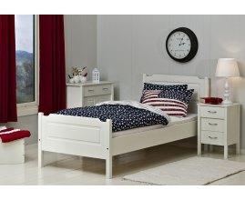 Volant - Białe łóżko do sypialni