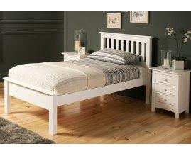 Arabis - Łóżko białe drewniane